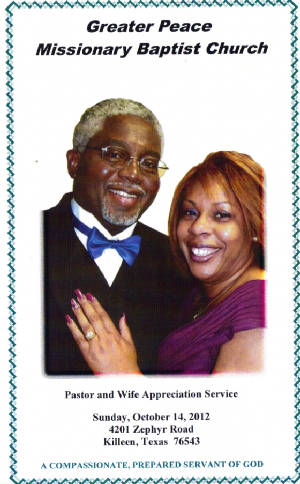 pastor and wife appreciation programs www
